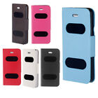 Double View Window Flip Stand Case for Apple iPhone 5S 5G 5C Magnetic Clip