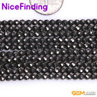 3,4,6,8,10,12 mm Round Faceted Black Magnetic Hematite Beads Stone Strand 15""