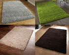 SMALL X LARGE SIZE THICK PLAIN SOFT SHAGGY RUG 5cm PILE MODERN RUGS NON SHED