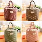 1x Thermal Insulated portable Lace Dot Lunch Box Picnic Tote Storage Bag Pouch Z