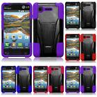 WHOLESALE LOT For LG Optimus Zone 2 L34C Fuel Hybrid T-Stand Cover Case