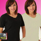 Ladies Thermal Underwear T-Shirt Janes Short Sleeve Brushed Comfort Soft AMIR