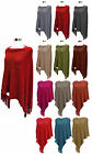New Ladies Sequin Fashion Poncho Womens Cape Knitted Shrug Shawl Top Wrap Jacket