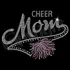 CHEER MOM RHINESTONE T-SHIRT (UNISEX FIT)  CHEERLEADER