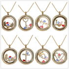 Hot Sparkle Floating Charm Glass Memory Locket Pendant Necklace+Charm+chain Gift