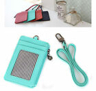 Brand New Neck Leather wallet Card Holder Credit Card Mini Zip purse with Strap