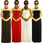 S/M/L Casual Full-Length High Quality Polyester Siam Trendy Maxi Strapless Dress