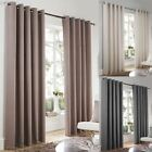 LINCOLN LUXURY HEAVYWEIGHT LINED EYELET CURTAINS READY MADE RING TOP PAIRS