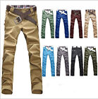 Comfortable to Wear Men Straight Slim Fit Trousers Casual Long Pants