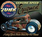 Genuine Speed Equipment Junk Parts Rat Rod Hot Rod Coupe Hoodie Black L - 4X