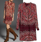 Chic Spring NEW Europe Vintage Ethnic Floral Shirt Dress One piece Shift Gown
