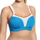 Panache Sports Bra Cobalt Blue/Grey/Orange Racer Back Option 5021 Select Size