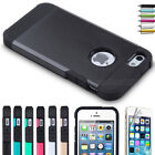 Pen+ Heavy Duty Hybrid Rugged Rubber Combo Matte Hard Case Cover For iPhone 5 5S