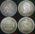 USA ½ Dimes 5 Cents Half Dimes Silver Coins Choice of coins FREE UK POST