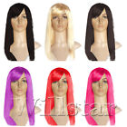 FASHION WOMEN FULL LONG STRAIGHT FANCY DRESS HAIR CLIP WIG COSTUME COSPLAY PARTY