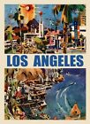Los Angeles Sailboat Ocean Sea Travel Tourism Fine Vintage Poster Repro FREE S/H