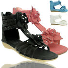 NEW KIDS GIRLS CHILDREN GLADIATOR WEDGE HEEL BEACH SANDALS PARTY SHOES