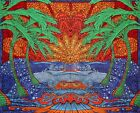 3D Epic Tropical Palm Tree Ocean Wave Surf Tapestry Beach Sheet Table Cloth
