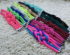 Fashion beautiful Fluorescent color rope weaving Chinese knot Charms Bracelet