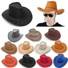 Cowboy Hat Suede Look Wild West Fancy Dress Mens Ladies Cowgirl Unisex Hats
