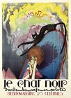 Black Cat Le Chat Noir Fashion Lady France French Vintage Poster Repro FREE S/H