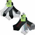 3/6/12 Pairs Mens Trainer Socks With Stripes Various Colours UK 7-11 SK145