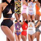 Hot Sexy Womens Vintage Push Up High Waist Bikini Set Strappy Swimwear Swimsuit