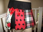 NEW mixed skulls tartan spots check stars stripes Skirt-All sizes Punk Bike goth