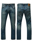 Jack & Jones Clark Original AT906 Mens Designer Jeans Medium Blue Denim