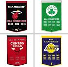 "Choose Your NBA Team 24 x 36"" Embroidered Wool NBA Champions Dynasty Banner Flag"