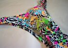 Mens Narrow Rio Multicolor Custom Made USA  Rio Thong Half  s m l or xl Spandex