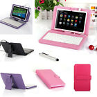 "Leather iRULU NEXUS 7 7"" inch Tablet Case Cover Android USB Keyboard Folio Stand"