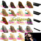 """15""""-30"""" Clip In Full Head Human Hair Extensions Real Human Hair Any Colors LOT"""