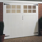 Garage Door - Wood - Glazed Glass Windows - Side Hung - Traditional - W 2134mm