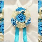 WEDDING FLOWERS GIRL BRIDESMAID BOUQUET POSY FOAM ROSES TURQUOISE +OTHER COLOURS