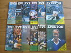 Everton Home Football Programmes 1979/1980 Season Inc FA Cup & League Cup