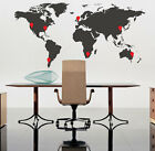 World Map Wall Art Stickers Wall Decals with Red Pointer