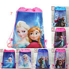 Dual Purpose Pop Frozen Princess Environmental Drawstring Bag Backpacks
