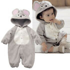 Unisex Baby Grey Mouse Costume Toddler Romper Xmas Party Dress Mice Playsuit
