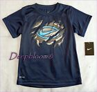 NIKE TOP TEE SHIRT BOYS FIT DRI SZ 5 6 7 BLUE NEW
