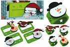 Set 4 Felt 'Santa & Friends' Christmas/Xmas Napkin Rings/Name Place Card Holders