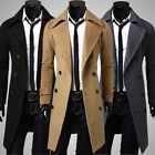 New 2014 Men's TOP Stylish Trench Coat Winter Jacket Double Breasted Overcoat