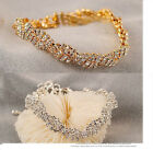 New Coming Color Optional Gold&Silver Plated Rhinestone Multi Weave Bracelet