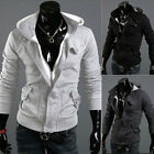 New Mens Slim Fit Hoodie Winter Warm Vogue Sweatshirt Casual Coat Outwear Jacket