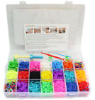 Loom Bands 4200 Pieces Colourful Rainbow Rubber Bands Bracelet Making Kit