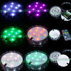 4 8 Remote Controlled Submersible LED RGB light Base 10 LED Floralytes wedding I
