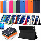 Slim Flip Folio Book Smart COVER CASE FOR SAMSUNG GALAXY TAB 3 8.0 & 7.0 Inch UK