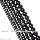 Gemstone Black Agate Round Ball Loose Beads Jewelry Making DIY 2/3/4/6/8/10/12mm
