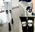 Women Skull Footless Legging Punk Style StretchySkinny Sexy Girl Pencil Pants