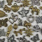50 to 1000 Pcs Mixed Assorted Tibetan Silver Bronze Pendants Charms